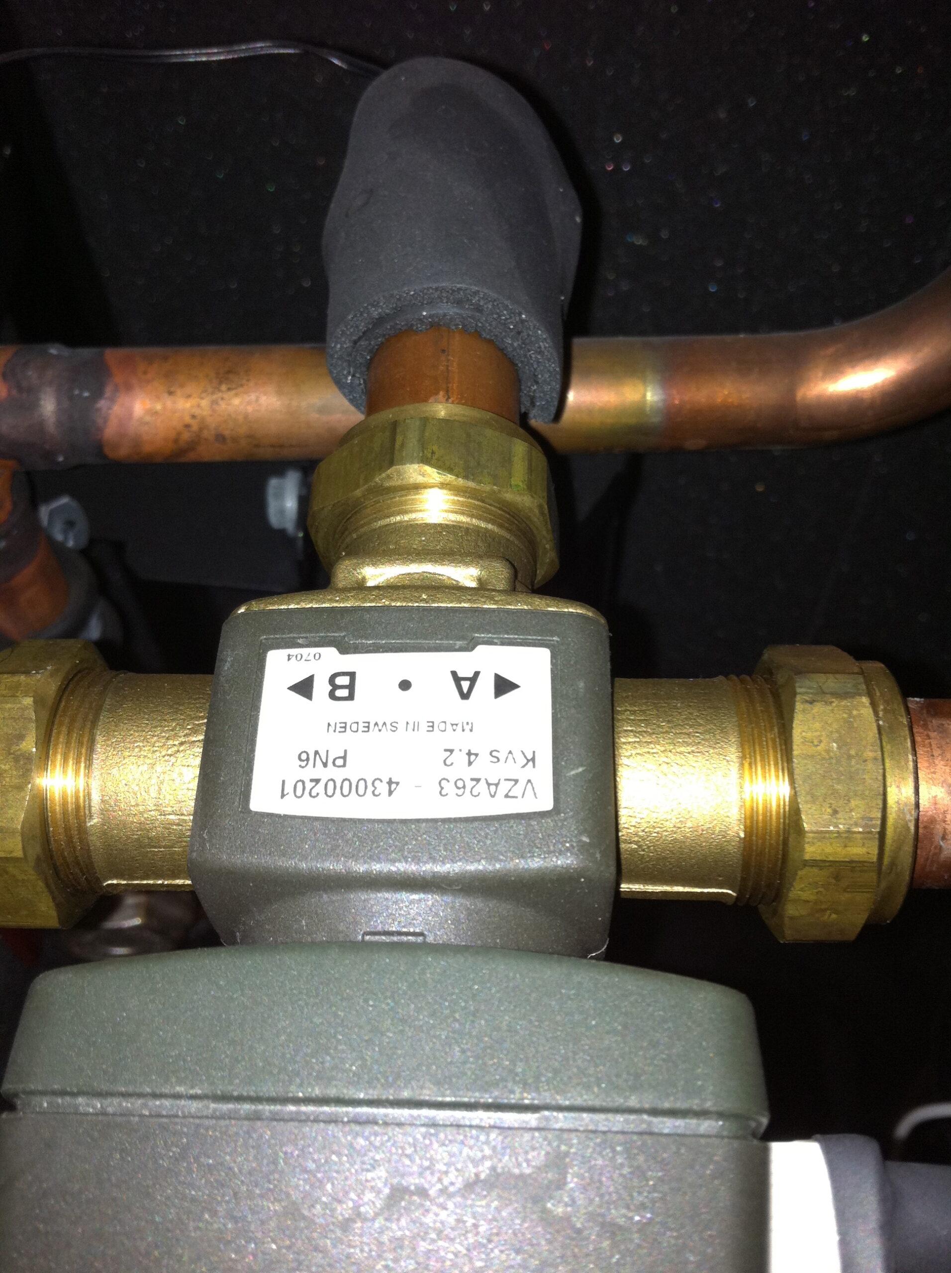 3 port Valve heating